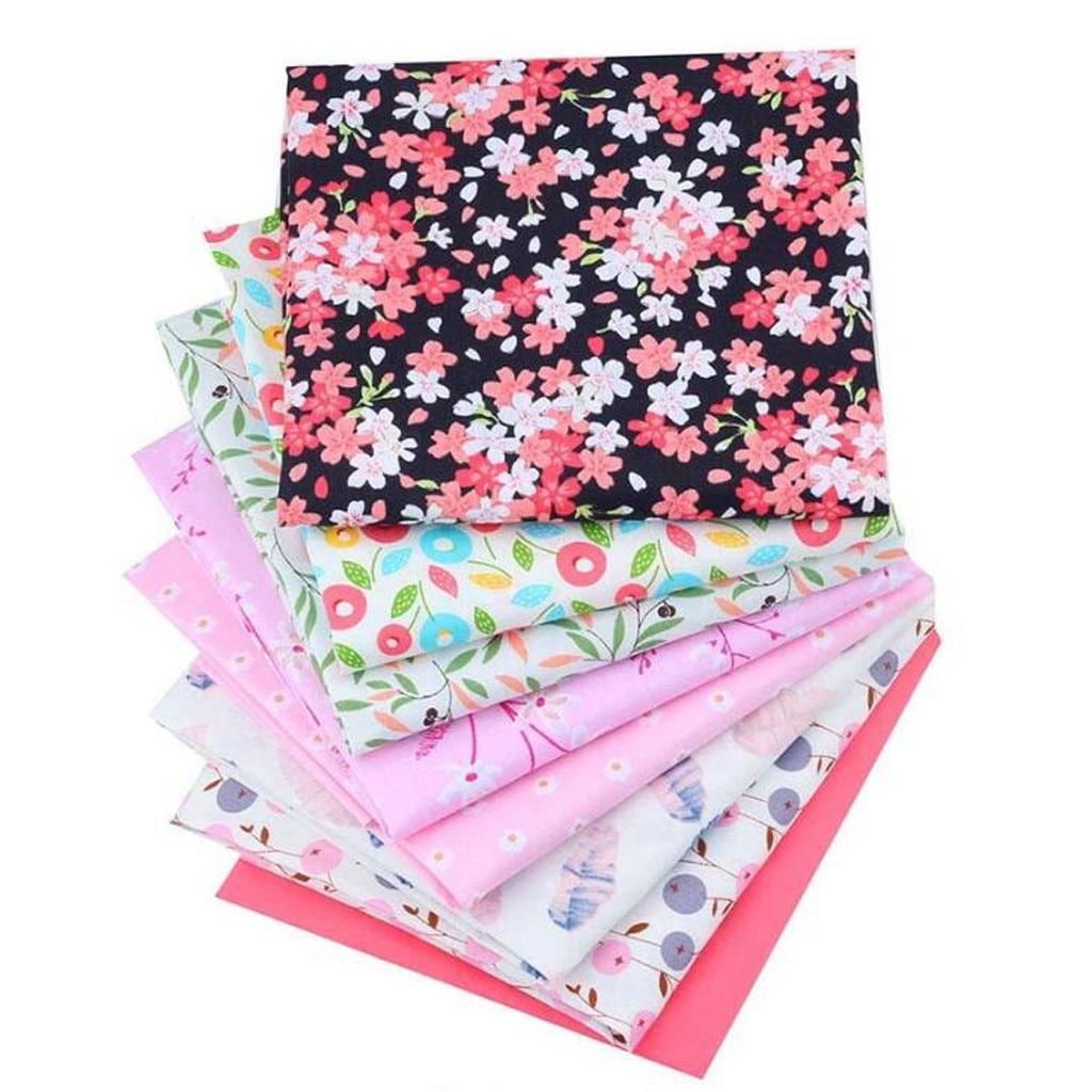40*50CM Patchwork Flower Printed Cotton Fabrics DIY Sewing Assorted Pattern Cotton Cloths Handmade Needlework Crafts 8PC D3