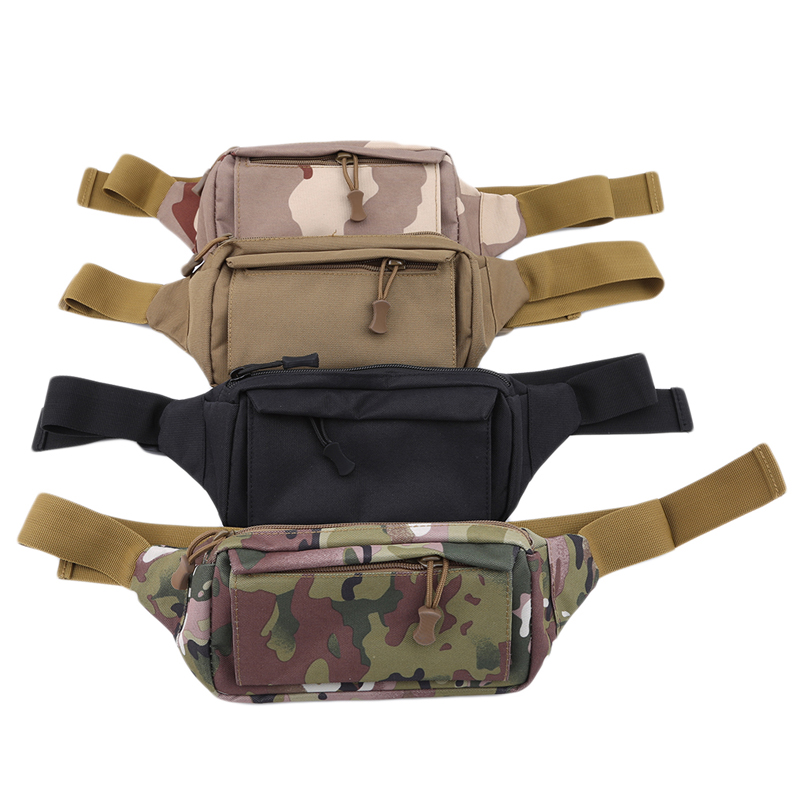 3 Pockets Nylon Waist Bags Nylon Fanny Pack Fashion Men Waist Pack Chest Shoulder Bag Chest Handbag Unisex Fanny Pack