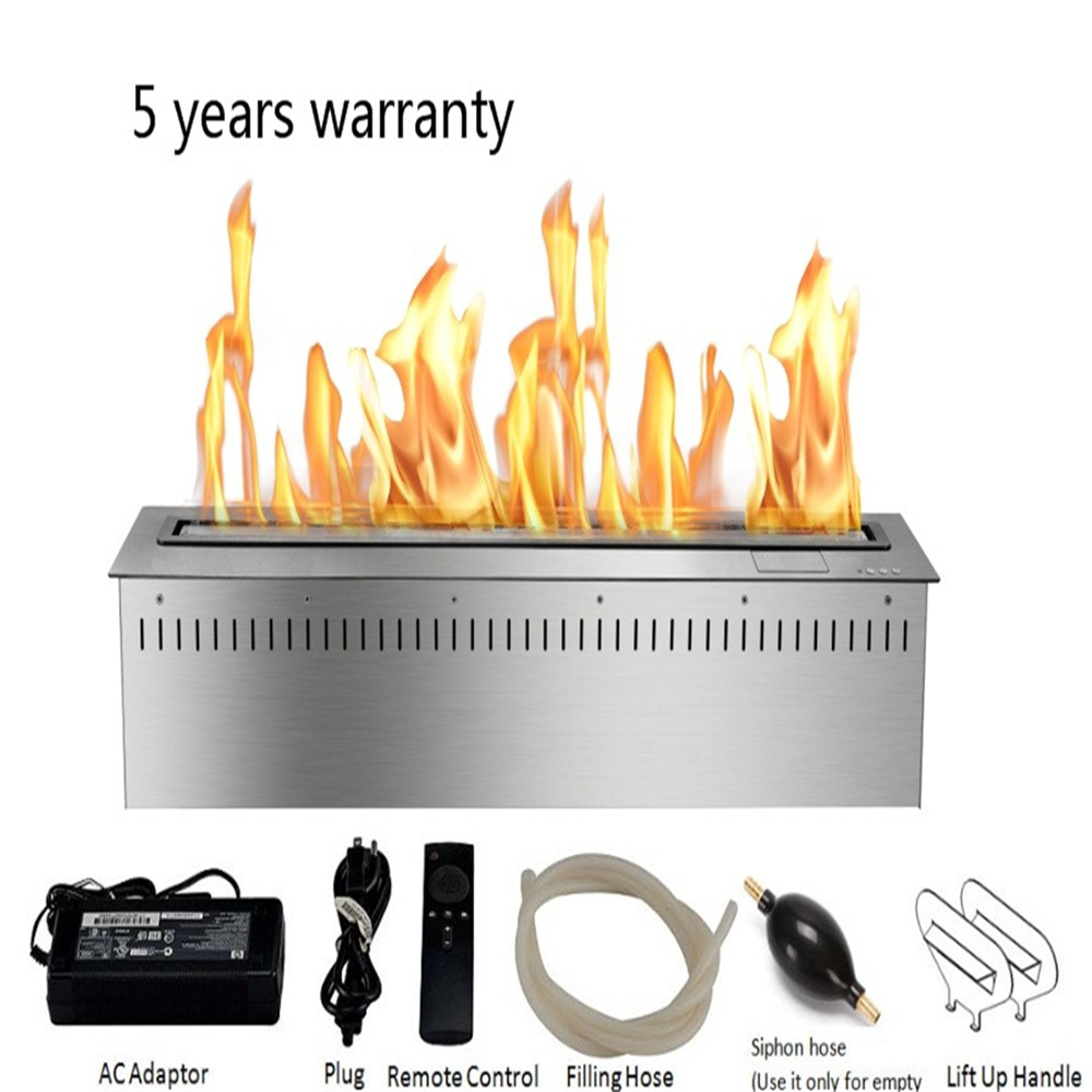36 Inch Real Fire RS485  RS232 Dry Contact Intelligent Smart Bioethanol Fireplace Insert Burner