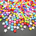 100 шт 9 мм акриловые бусины пятиконечная звезда радужные цветные бусины для изготовления ювелирных изделий DIY браслет ожерелье