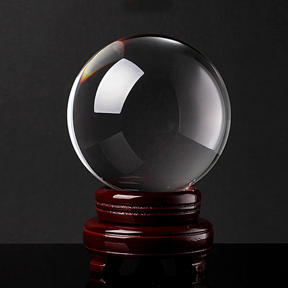 40mm Magic Asian Natural Quartz Clear Crystal Healing Ball Sphere  Photography Lens Ball Photo Prop Background
