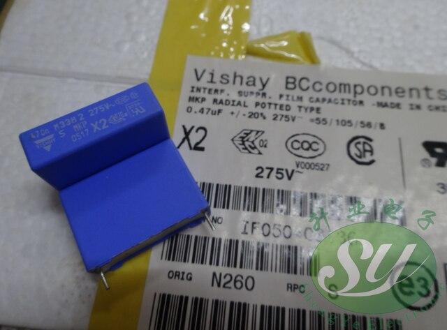 20 pièces NOUVEAU vishay BC MKP338 0.47 uf/275VAC P22MM bleu film condensateur VISHAY mkp 338 474/275VAC 470NF 275VAC U47 474
