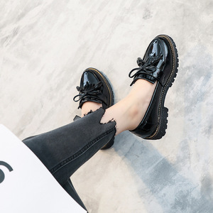 Image 3 - AARDIMI Womens Oxfords Shoes Tenis Feminino Patent Leather Women Flats Shoes Platform Ladies Shoes Slip On Shoes Zapatos Mujer