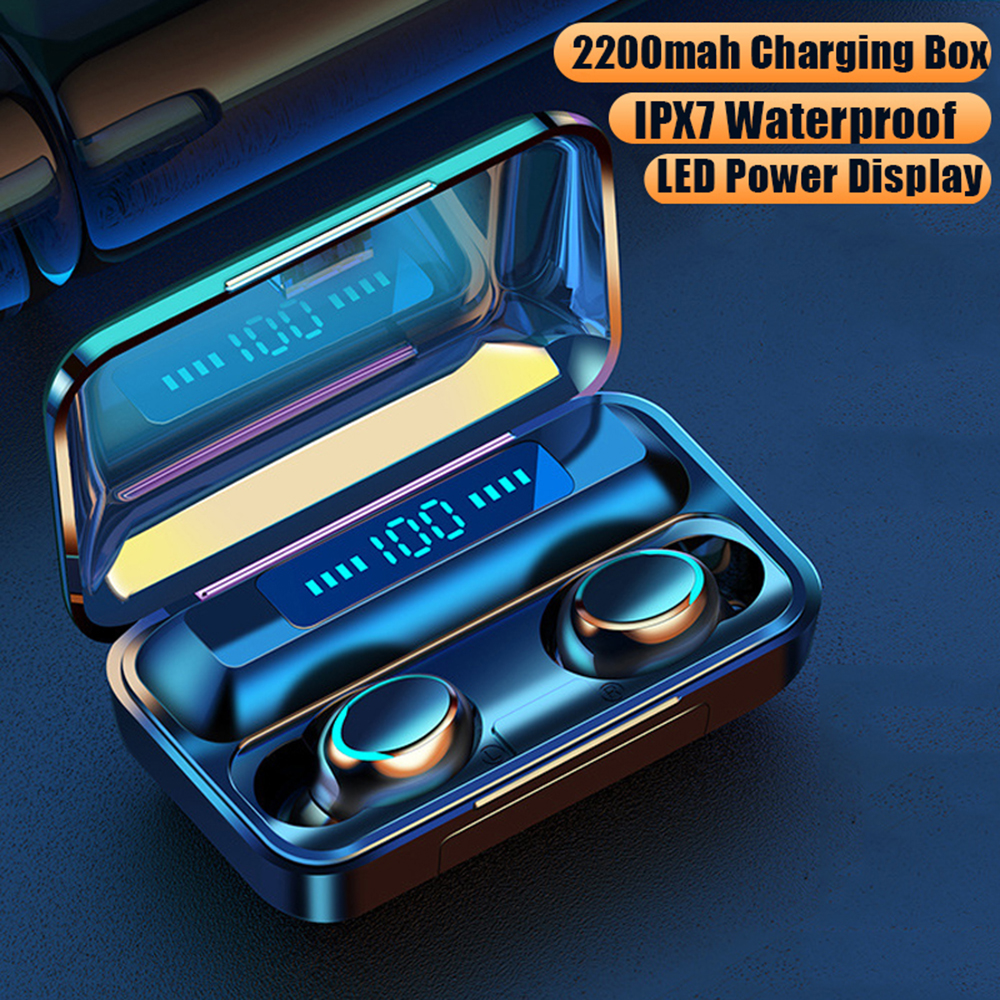 TWS Bluetooth 5 0 Wireless Earphones 8D Stereo In-ear Bluetooth Earbuds Handsfree With Mic Music Headset For Xiaomi Samsung