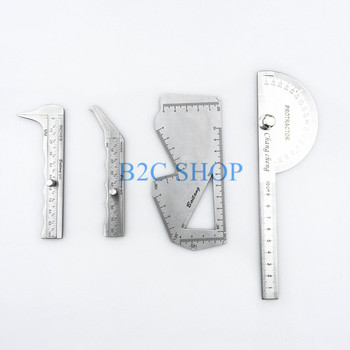 Nasal measuring scale Nasal caliper carved plate asal plastic surgery instruments Nasal measurement tool stainless steel