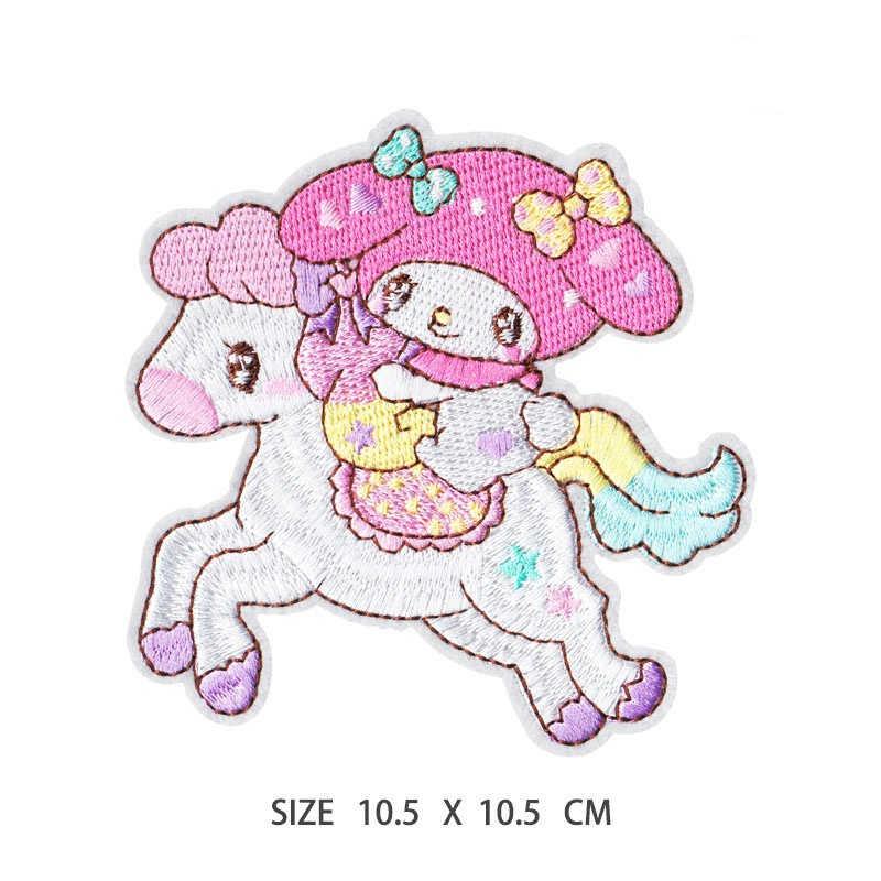 ملابس الاطفال ملصقات النسيج Kawaii الحيوان الحصان الكلب المطرزة الحديد على الملابس الجينز يزين DIY بها بنفسك الجينز عزر شارة بقع