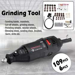 Drillpro 109Pcs Electric Grinder Kit 180W 5Speed Power Tools Electric Mini Drill Die Grinder Engraver Polisher with Rotary Sets