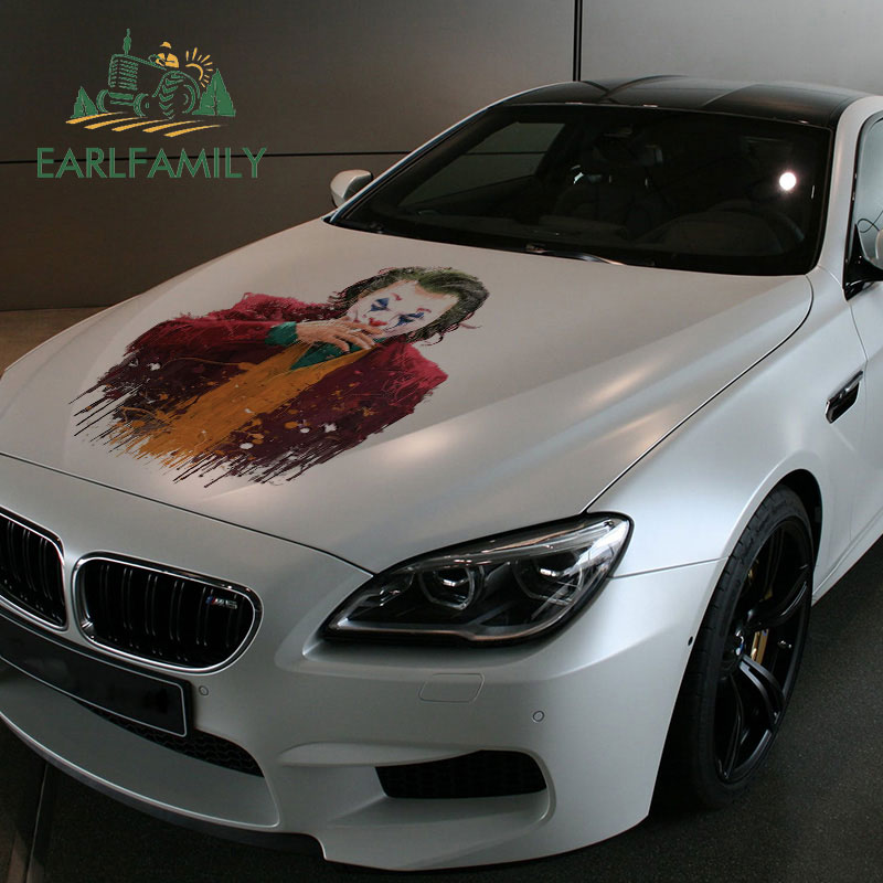 EARLFAMILY 43cm X 24.2cm For The Joker Paint Funny Big Car Stickers And Decals DiIY Vinyl Car Assessoires Waterproof Decor