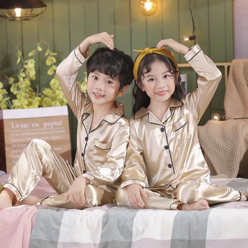 Kids Satin-Silk Pajamas Sets