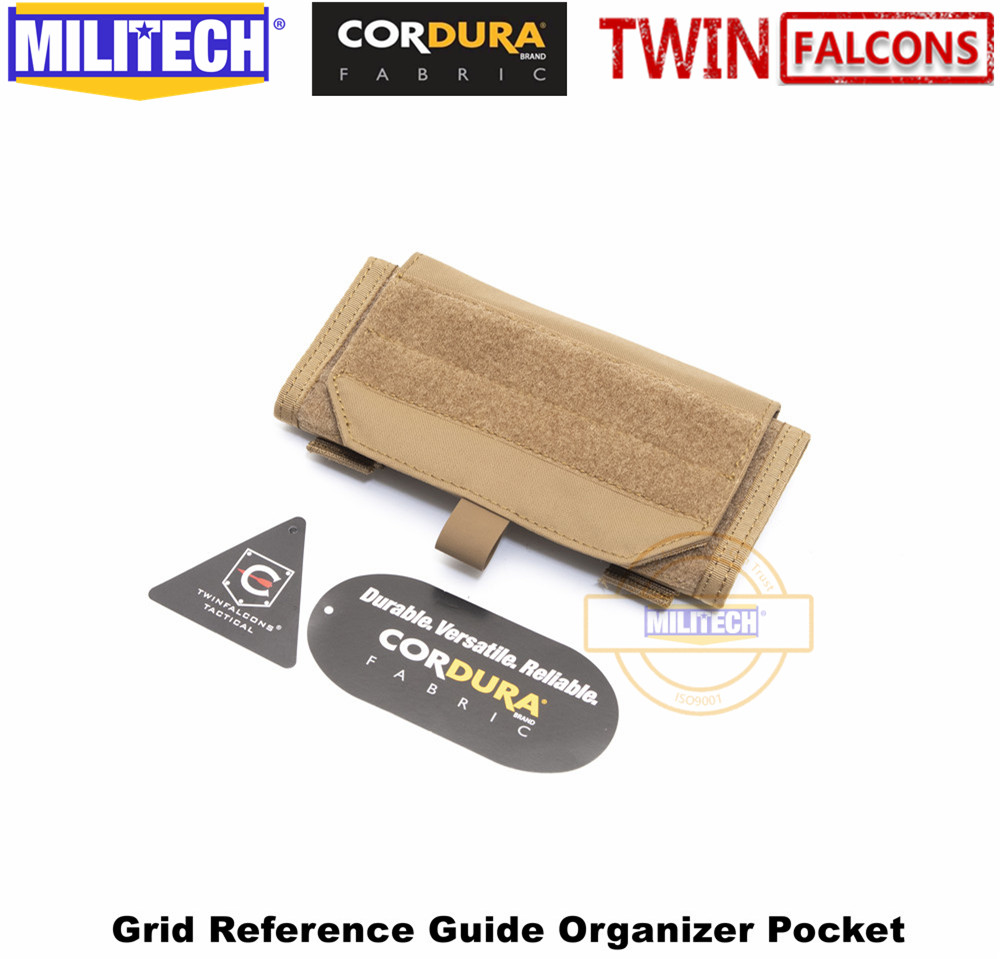 MILITECH TWINFALCONS TW 500D Delustered Cordura Molle Crye CP Grid Reference Guide Organizer Pocket Coordinate Map Combat Pouch