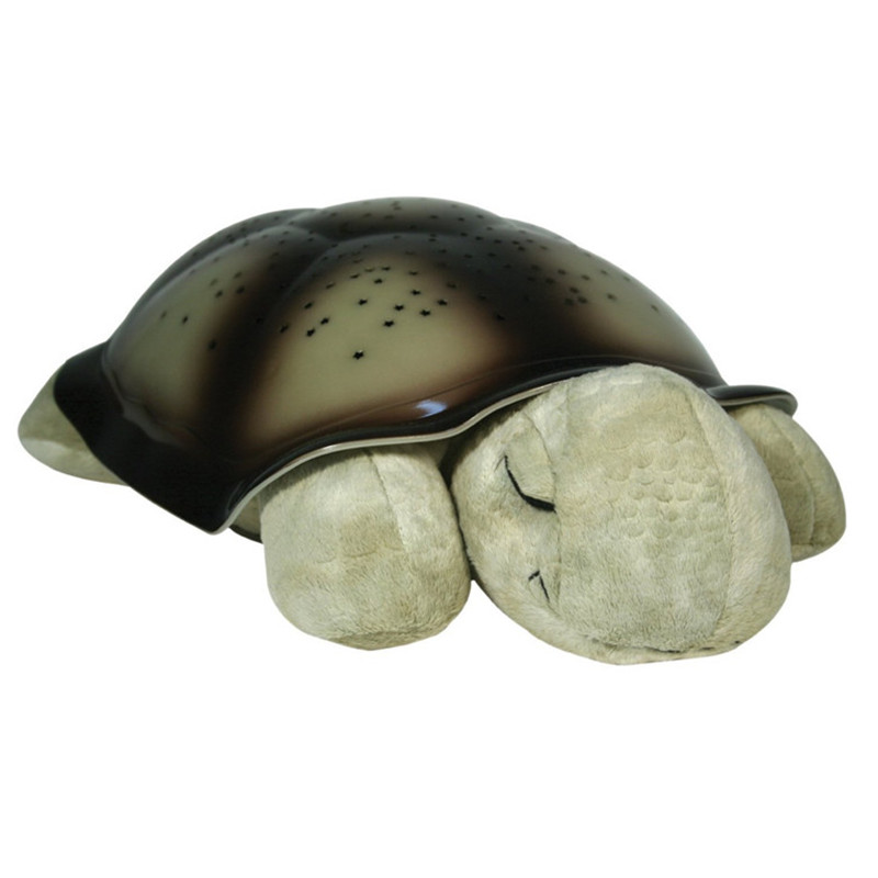 New Creative Turtle OLOEY LED Music Night Light Luminous Plush Toys Music Star Lamp Projector Toys For Baby Kids Sleeping