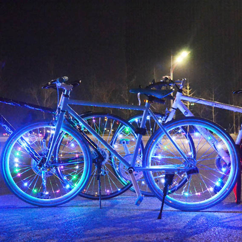 Bike Led Wheel Light  Waterproof Colorful Bicycle Tire Lights LED Spoke Light Front And Back Safety Waring For Kids Ultra Bright