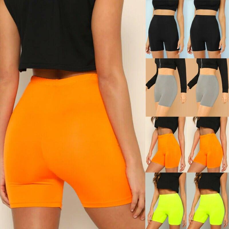 Women's Fitness Bike Shorts Soft Stretch Leggings Cotton Spandex Workout Leggings Stretch Biker 5 Colors