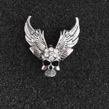 Elegant Rhinestone Brooch Pin Skull Badge Lapel Pins - Women Mens Suit Shirt Wedding Hallowen Party Accessories(China)