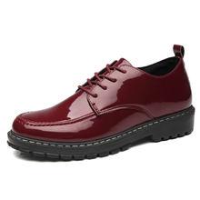 Мужские классические туфли из лакированной кожи итальянские
