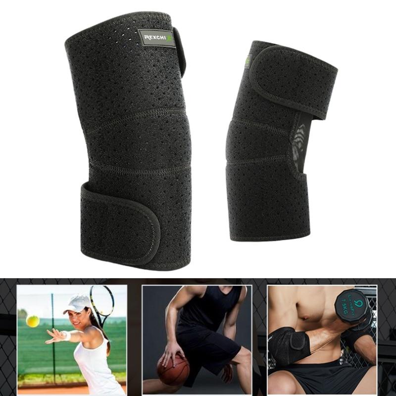 Codo de compresión para deportes al aire libre soporte para el codo almohadilla de apoyo para lesiones ayuda correa ajustable para el codo banda elástica para el deporte de gimnasio codo - 4
