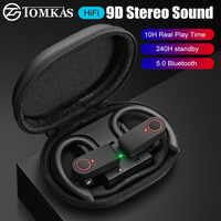 TWS 9D Stereo Auricolare Senza Fili Bluetooth 5.0 CVC Riduzione Del Rumore Impermeabile di Sport Della Cuffia Auricolari Doppio Microfono Senza Fili Cuffie
