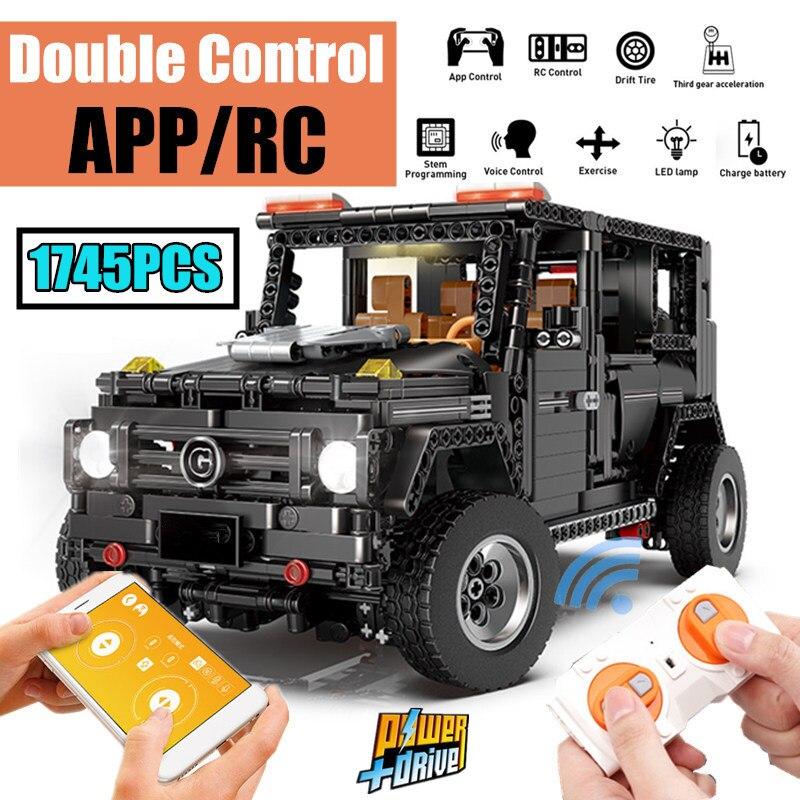 Oyuncaklar ve Hobi Ürünleri'ten Bloklar'de Yeni APP RC G Cam G500 AWD Vagon SUV Araç Fit Legoings Teknik MOC 2425 Motor Gücü Fonksiyonu Bina blokları Tuğla Oyuncak Çocuk'da  Grup 1