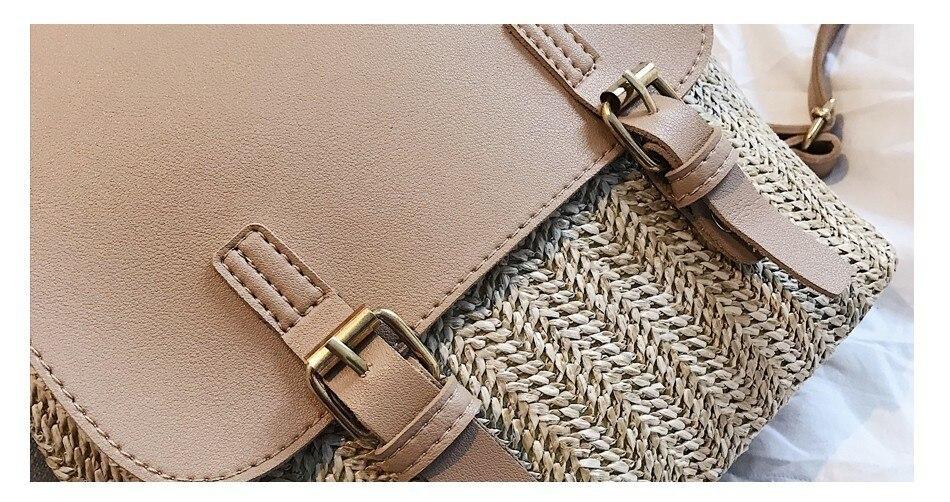 H10e8e6c9e8814f65b42747c16d8b0cc5p Herald Fashion Straw Woven Backpack Women Back Pack Autumn Teenage Girl Quality Backpacks Travel Bags Kawaii Rucksack Drop Ship