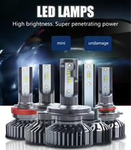 CARCTR New F2 LED Car Headlights 40W H1 H3 880/881 H7 H11/H8/H9 9005/H10 9006 H4/9003 9004 9007 Modified Led Car Light 1 Pair