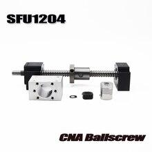 Sfu1204 bola parafuso c7 com final usinado + 1204 ballnut porca habitação bk/bf10 suporte acoplador rm1204