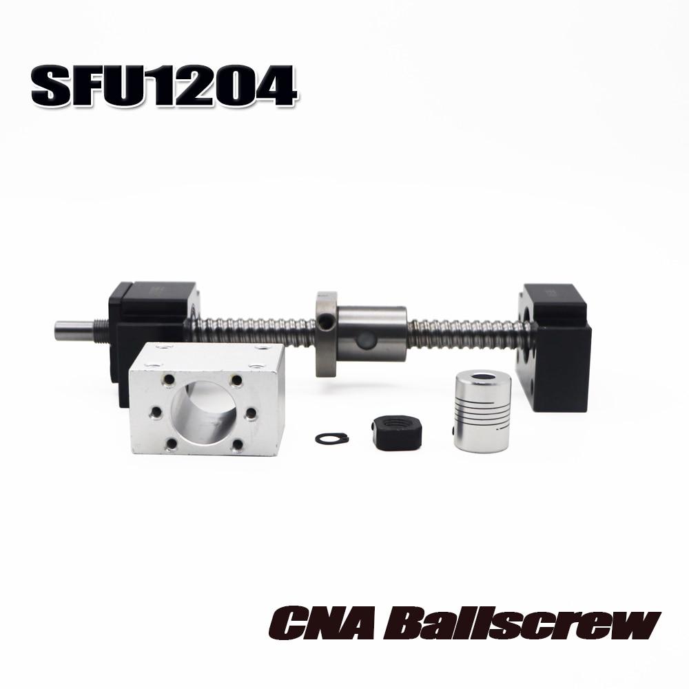 Sfu1204 conjunto: sfu1204 rolou o parafuso da esfera c7 com extremidade usinado + 1204 porca de esfera + carcaça da porca + bk/bf10 apoio final + acoplador rm1204