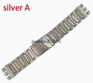 Image 3 - Jeathus 見本鋼ストラップのための時計バンドの交換 YOS440 441 439 455 456 固体ステンレス鋼ブレスレット 23 ミリメートルヨーヨー腕時計バンド