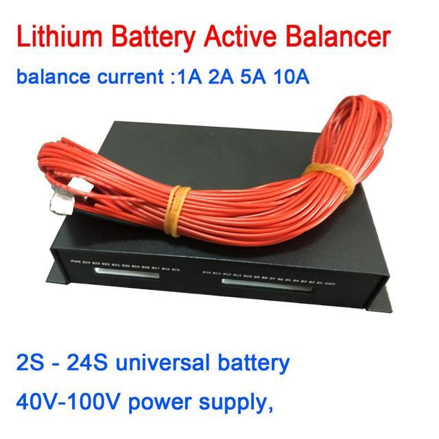 1A 2A 5A 10A Balance batterie au Lithium égaliseur actif Bluetooth 2S ~ 24S BMS Li ion Lipo Lifepo4 LTO équilibreur carte de Protection