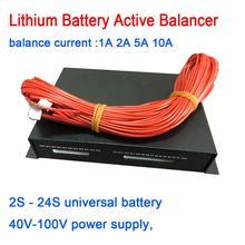1A 2A 5A 10A איזון ליתיום סוללה פעיל אקולייזר Bluetooth 2S ~ 24S BMS ליתיום Lipo Lifepo4 LTO איזון הגנת לוח