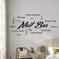 Косметический салон табличка для маникюрного салона ногтей стикер на стену гвоздь для волос салон красоты, магазин стеклянная комнатная ук...