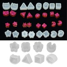 Silicone Molds Earrings Resin Making-Mould Crystal DIY Small 8-Pair Drop-Ship