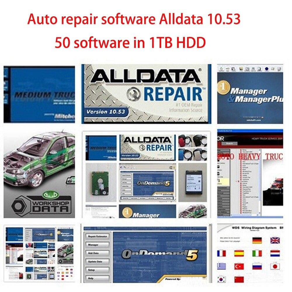 Novo alldata 10.53 conjunto completo 2015 reparação automotiva dados + mit. shell ondemand 5.8.2 + caminhão pesado ect todos os dados 50 software em 1tb hdd