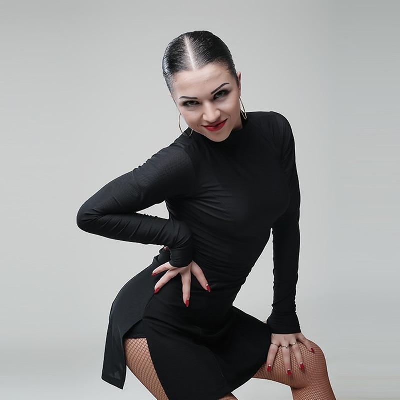 Latin American Dance Dress Women Latin Dress Dancing Clothes Dancewear Dress Latina Salsa Dress Modern Dance Costumes Black