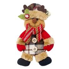 Рождественский Санта-Клаус, подвесная кукла, подарок, украшения для рождественской елки, праздничное окно, Рождественская Детская кукла, подарок для детей#20