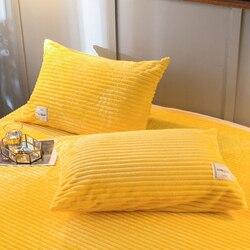 Lrea 1pc thinken flanela velo coral fronha capa na cama quente e confortável decoração para casa fronha capas