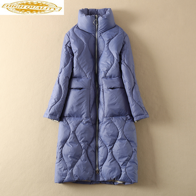 White Duck Down Jacket Women Long Down Coat Winter Autumn Light Puffer Jacket 2020 Clothes Doudoune Femme Hiver KJ3595