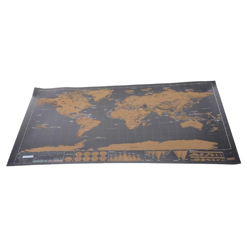 Делюкс скретч журнал карта мира персонализированные путешествия плакат пользовательский Декор Горячие LX9A
