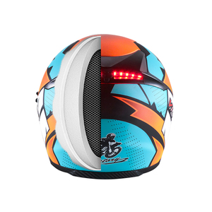 Image 4 - Smart Moto rcycle Helm LED licht Professionelle Volle Gesicht casco moto Racing Helm DOT Off Road Moto cross Helm Accessrioes