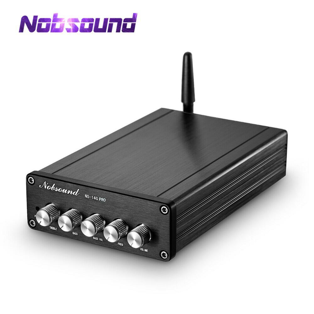 Nobsound alta fidelidade 200 w bluetooth 5.0 estéreo 2.1 canais amplificador de potência subwoofer receptor som pcm5102a classe d amp