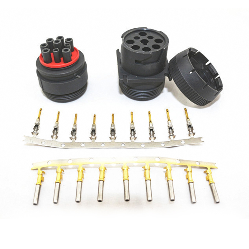 1 Set Deutsch Connector for Track J1939 9pin Connector 9 PIN Female Diagnosctic Tool Connectors|Connectors| |  - title=
