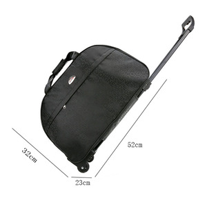Image 5 - Waterproof Oxford Travel Bag Women Packing Cubes Lever Duffle Bag Portable Suitcases And Travel Bags Organizer Fashion Luggage