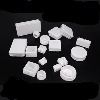 цена на 10Pcs   Round Pipe Tube White Plastic Furniture Leg Plug blanking end Caps Insert Plugs Bung dust cover Feet Protector