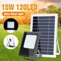 120 светодиодных IP65 солнечных прожекторов с панелью солнечных батарей света управления свет прожектора Настенные светильники наружного ава...