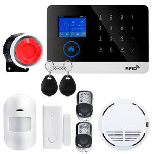 Wireless SIM GSM Home RFID Burglar Security LCD Touch Keyboard WIFI GSM Alarm System