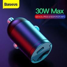 Baseus Quick Charge 4,0 3,0 USB C Auto Ladegerät Für iPhone 12 11 X Pro Huawei Xiaomi Handy USBC typ C PD 3,0 Schnelle Lade