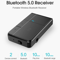 5 3 Bluetooth 5.0 Receiver Transmitter 3.5mm AUX Jack RCA A2DP Stereo Music 2 IN 1 Wireless Adapters For Car Home Stereo TV Speaker (2)