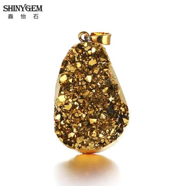 Кулоны shinygem 20 40 мм с неровным натуральным кристаллом druzy