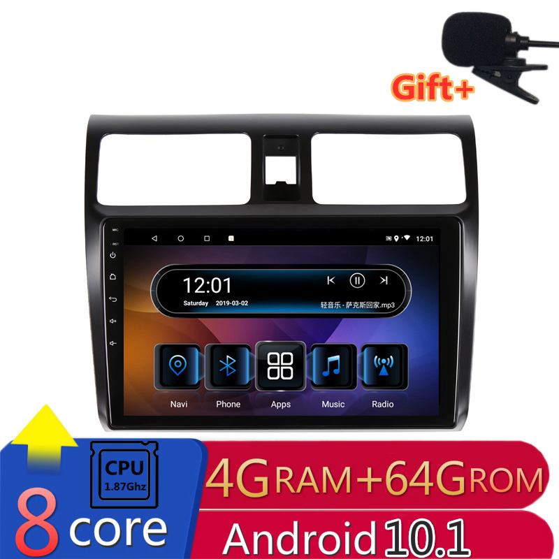 2 din 8 core <font><b>android</b></font> 10 car radio auto stereo for <font><b>Suzuki</b></font> <font><b>Swift</b></font> 2005 2006 2007 <font><b>2008</b></font> 09 2010 navigation GPS DVD Multimedia Player image