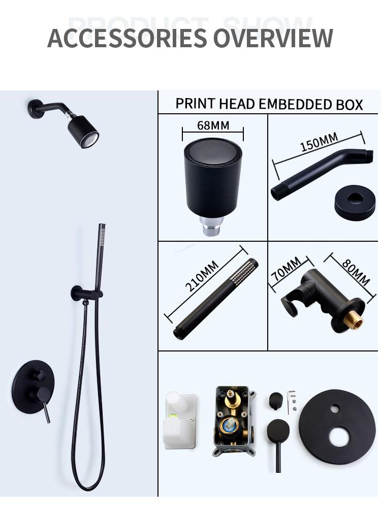 H10eb63b0b3684bf2a056ba7f8f6e96aaq Wall Mounted Bathroom Top Sprayer Brushed Gold Shower Faucet Set