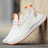 2019 novos homens tênis de malha sapatos casuais lac-up sapatos masculinos leve confortável respirável caminhada tênis zapatillas hombre